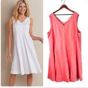 Soft surroundings 3x dress sleeveless make a twirl